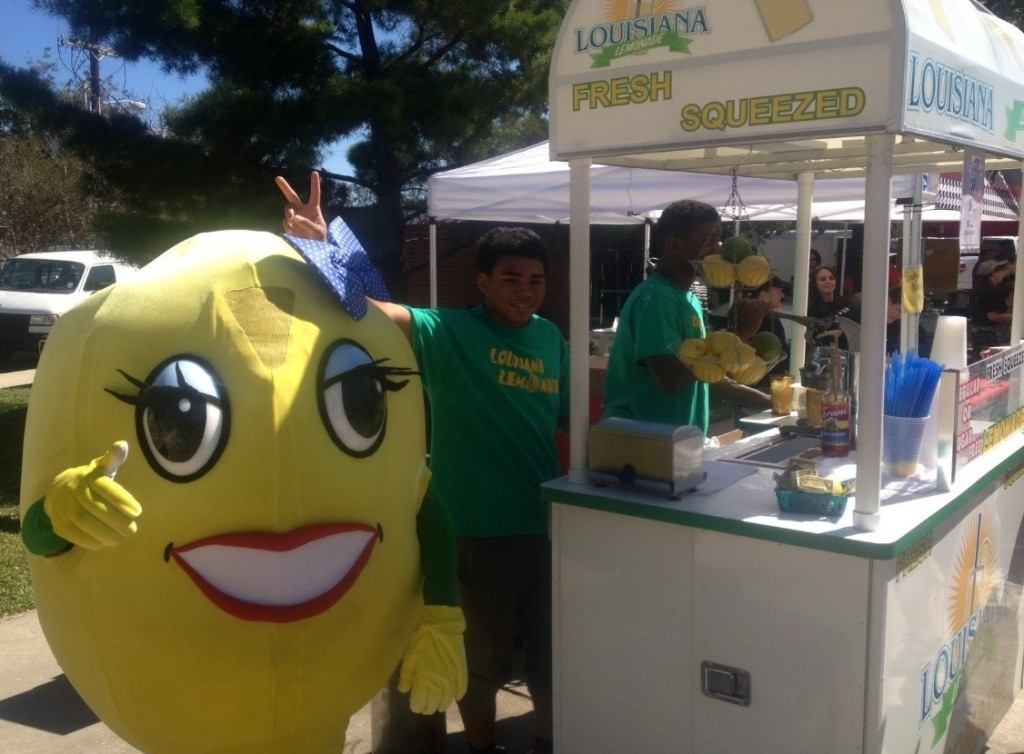 Lemonette (our 1st Lady) & crew members at the Boudin Cook-Off in Lafayette, LA